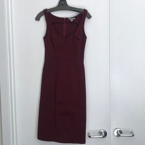 Zac Posen burgundy dress